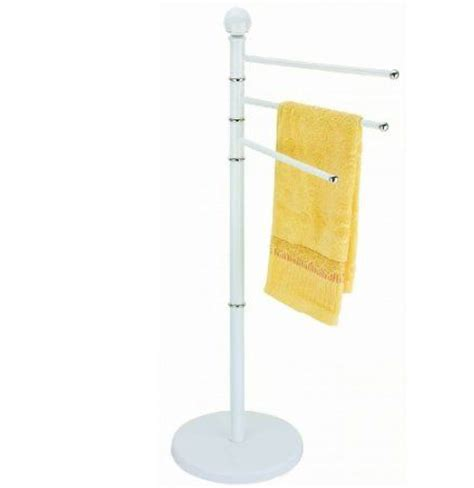 Free Standing Towel Holders For Bathrooms 3 Arms Bathroom Towel Holder Rail Stand Floor Free Standing Rack White Co Uk Kitchen