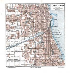 chicago map 1920 vintage city map chicago united states plan 1920s