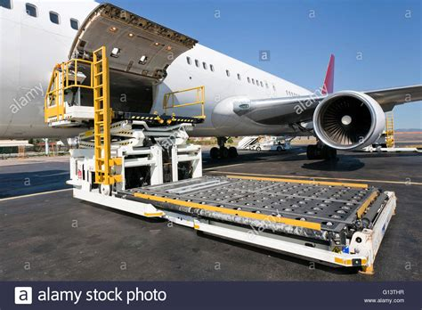 loading platform of air freight to the aircraft stock photo 103962035 alamy