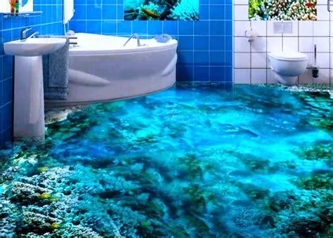 immagini di pavimenti pavimenti in 3d per il bagno effetti tridimensionali
