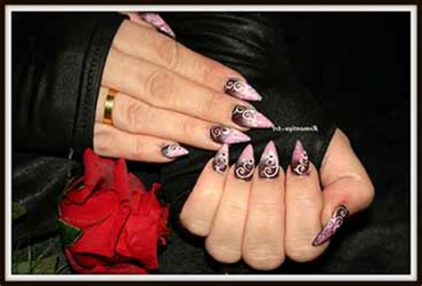 modele ongle pointu ongles en gel pointu