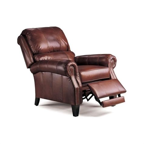 lane recliner leather lane furniture hogan leather recliner in chocolate tri