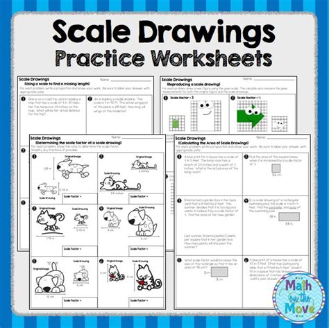 Scale Factor Worksheet With Answers by Scale Drawings Practice Worksheets And Assessment 7 G 1