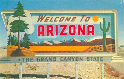 Sign Postcard postcard gems welcome to arizona