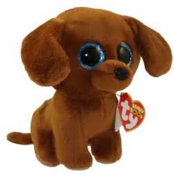 ty beanie boos dougie dachshund glitter eyes regular size 6 bbtoystore