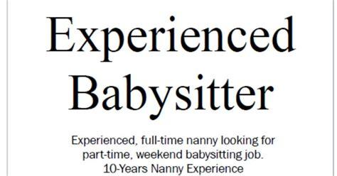 babysitter part time delli beriberi co