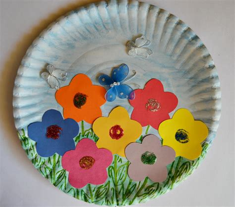 Craft For Paper - paper plate garden allfreekidscrafts