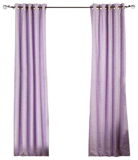 Lavender Window Curtains Lavender Ring Grommet Top Velvet Cafe Curtain Drape Panel 43w X 36l Traditional