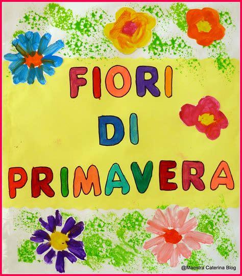 filastrocche sui fiori maestra caterina lapbook fiori di primavera