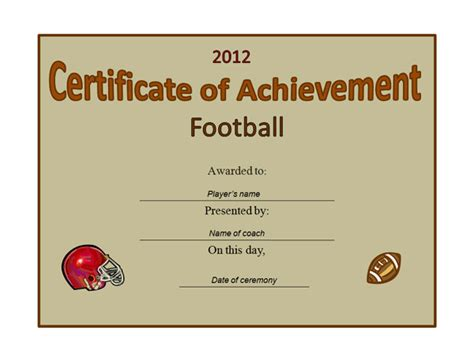 doc 1040720 football certificate template soccer award