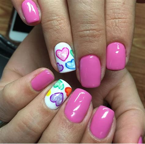 cute valentine nails heart nails valentine nail art