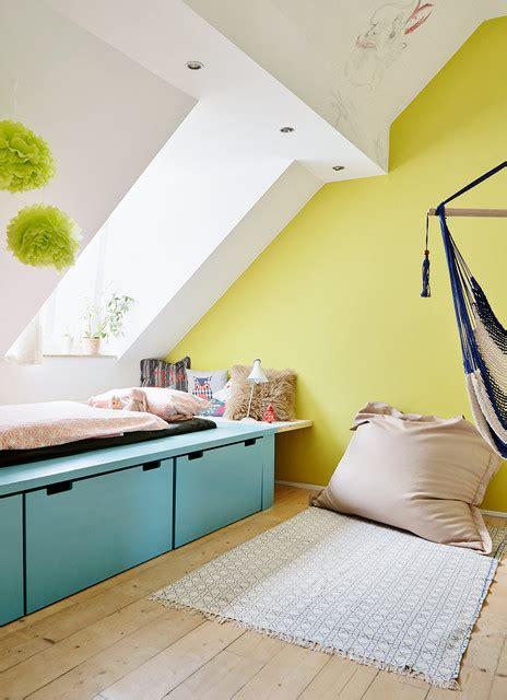 Sitzb Nke Mit Stauraum 526 luxuri 246 s skandinavisch kinderzimmer chartreuse wand