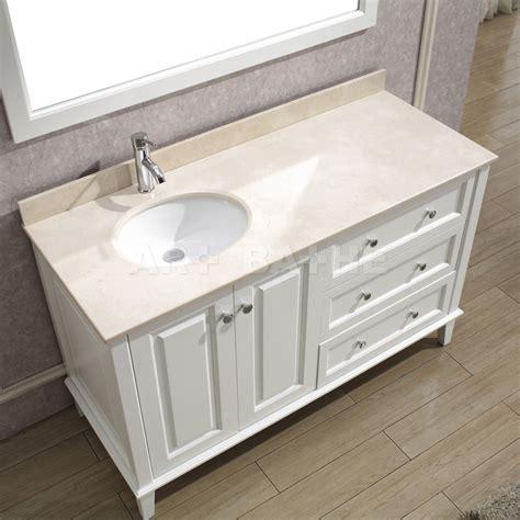 Lily 55 White Bathroom Vanity
