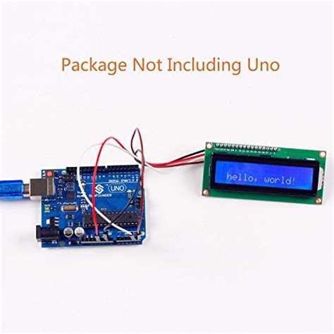arduino uno i2c lcd tutorial sunfounder iic i2c twi 1602 serial lcd module display for