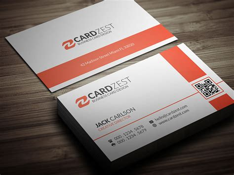 business card template 12 free orange business card template by mengloong on deviantart