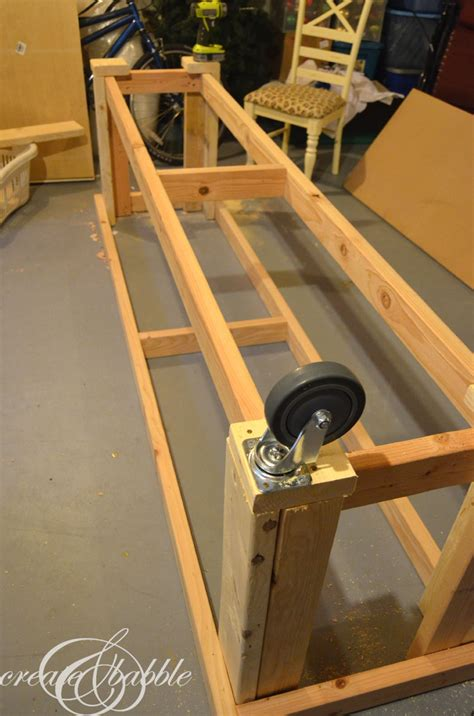 work bench on wheels diy workbench create and babble