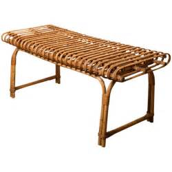 rattan bench at 1stdibs