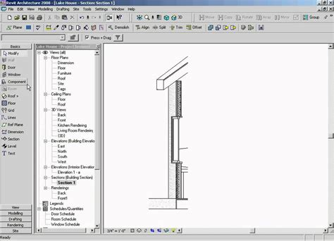 revit section wall section youtube