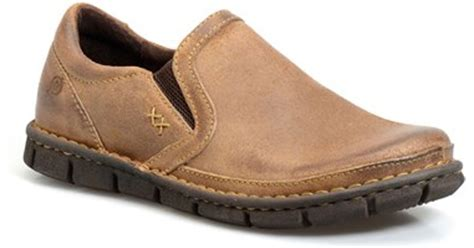 born sawyer shoes born sawyer slip on in brown for lyst