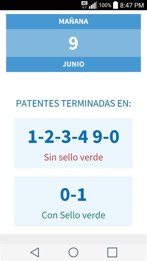 Calendario Restriccion Con Sello Verde Suspendida Restricci 243 N Sello Verde 9 De Junio Patentes 0