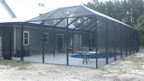 Screen Enclosures Screen Rooms Tallahassee Pool Enclosure With Solid Roof
