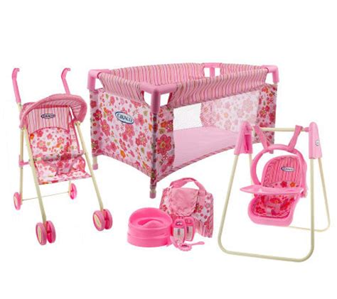 Graco Doll Crib by Graco Total Nursery Doll Furniture Playset W Accessories