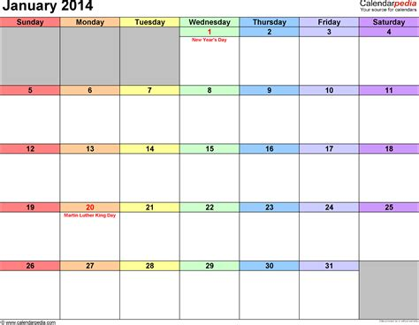 fillable calendar template jan 2014 calendar new calendar template site
