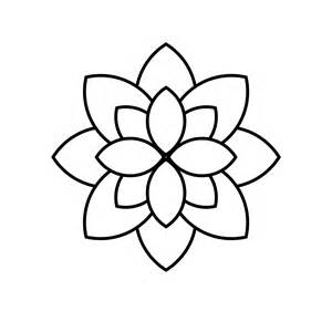 Outline Lotus Flower Lotus Flower Outlines Clipart Best