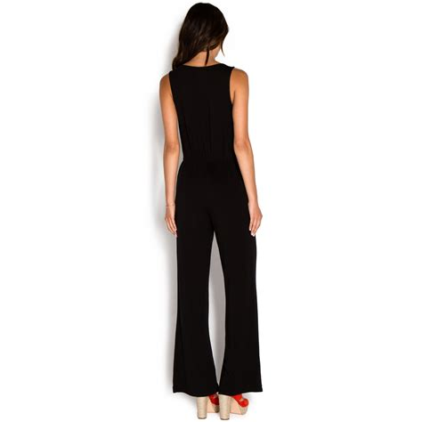 knitted jumpsuit crossover knit jumpsuit shoedazzle