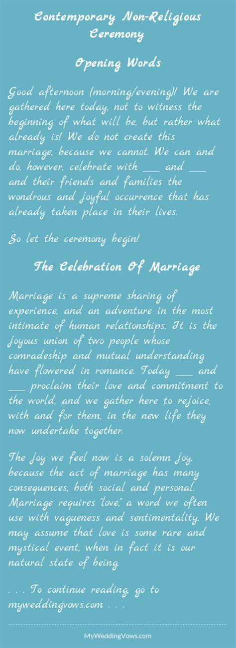 Wedding Ceremony Opening Words by Contemporary Non Religious Ceremony Wedding Weddings