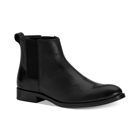 calvin klein boots mens calvin klein cambell chelsea boots in black for lyst