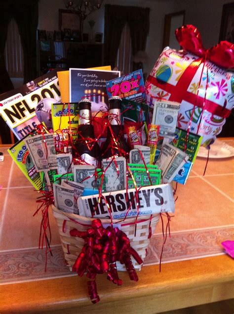 i attempted to make a birthday gift basket for my