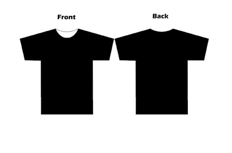 t shirt templates clipart best
