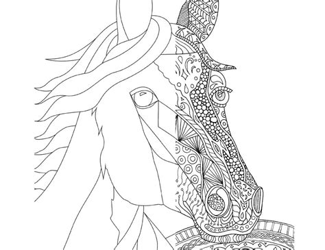 coloring pages of horses for adults zentangle coloring page for adults plus bonus easy