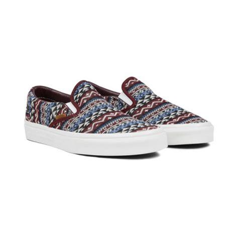 vans pattern slip on what s hot in the halls shoes edition cavalier chronicles