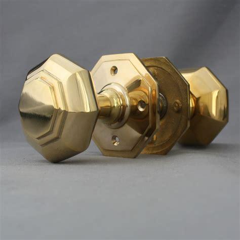 Brass Door Knobs Ebay by Georgian Style Brass Octagonal Door Knobs Ebay