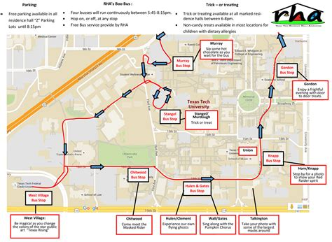 map of texas tech texas tech offers annual tech or treat safetreat events to lubbock community october 2015