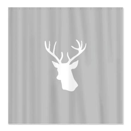 stag print curtains white stag deer head shower curtain deer showers and