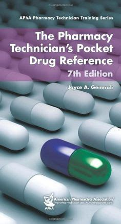 pharmacy reference books list written for pharmacy technicians and addressing the