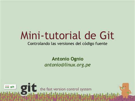 github tutorial slideshare mini tutorial de git