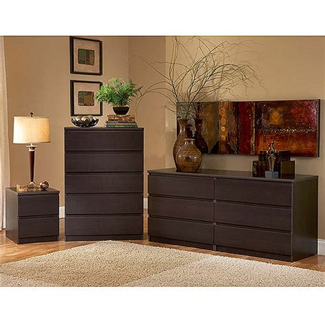 espresso bedroom dresser laguna double dresser 5 drawer chest and nightstand set