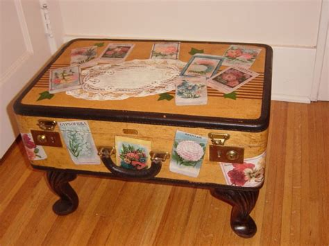 How To Decoupage A Suitcase - 55 best images about 9 suitcases trunks baskets reuse