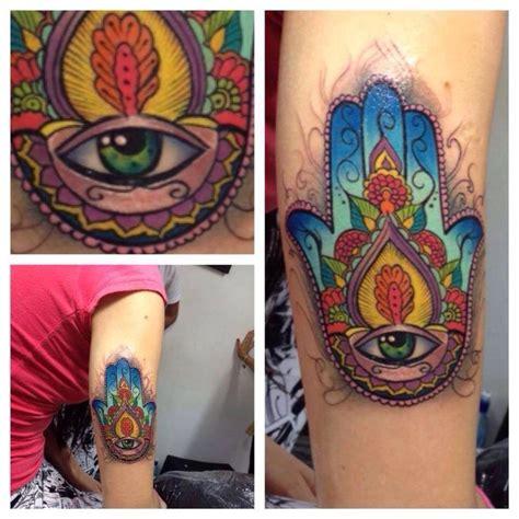 tattoo full hand color hamsa hand tattoo color www pixshark com images