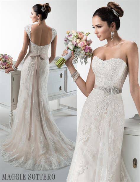 Wedding Dresses You Can Wear A Bra With by Lace Wedding Dress By Maggie Sottero Maggie