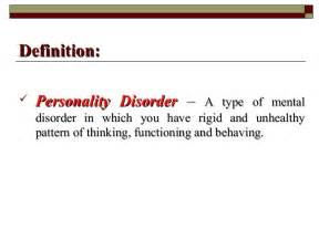 enduring pattern meaning personality disorder
