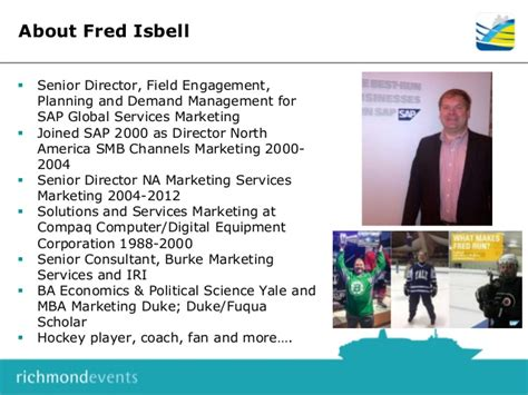 Mba Marketing Sap by Fred Isbell Session At May Marketing Forum Jacksonville