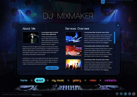 Dj Mix Maker Music Is My Life Html5 Template On Behance Dj Website Templates Free
