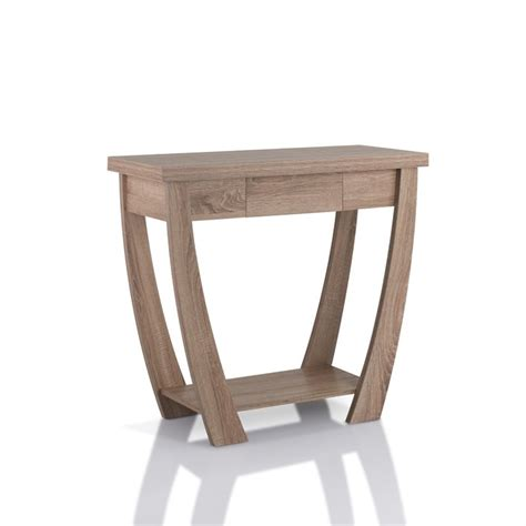 sofa table light oak furniture of america quaint console table in light oak