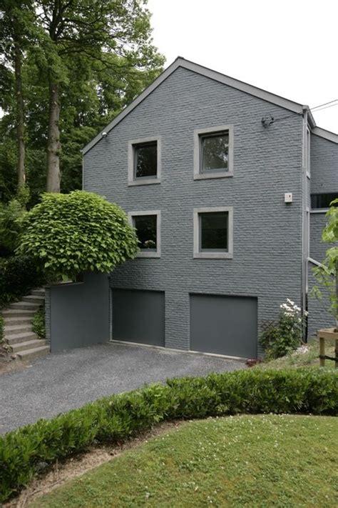 briques peintes grises maison exterieur gris