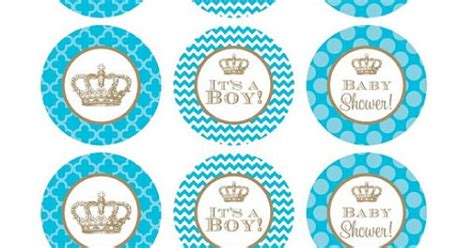 printable crown cupcake toppers cupcake toppers baby shower crown theme diy by